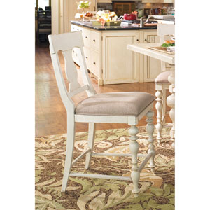 Linen Counter Height Chair- Set of Two