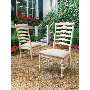 Mikes Side Chair, Linen- Set of Two
