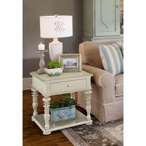 Linen Rectangular End Table