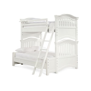 Classics 4.0 Summer White Twin over Full Bunk Bed