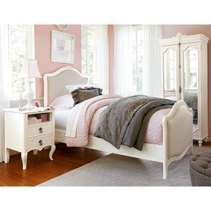 Genevieve French White Genevieves Twin Complete Bed