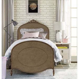 Genevieve Pewter Ma Cherie Twin Complete Bed