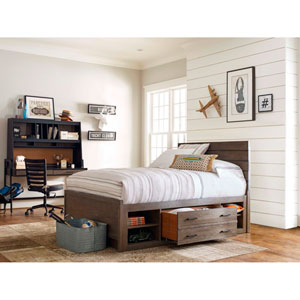 My Room Brown Storage Unit with Side Rail Panel ONLY