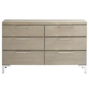 Axis Symmetry Oak and Stainless Steel Dresser