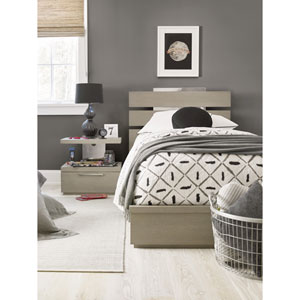 Axis Symmetry Oak Panel Twin Bed