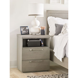 Axis Symmetry Two Drawer Nightstand