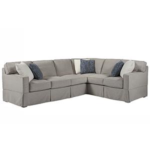 Escape Gray Chatham Left Arm Sofa with Right Arm Corner