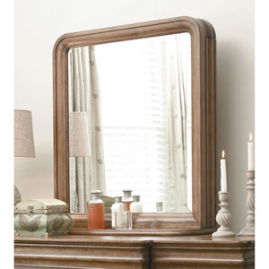Cognac Vertical Storage Mirror