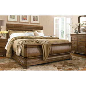 Louie P Cognac Complete King Sleigh Bed