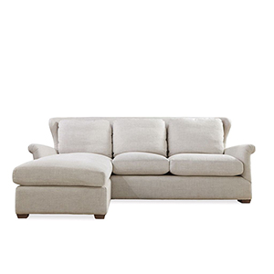 Haven Linen Sofa Chaise with Ottoman