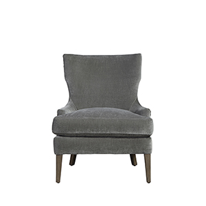 Curated Gray Aubrey Accent Chair