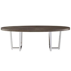 Curated Brownstone Dorchester Oval Cocktail Table