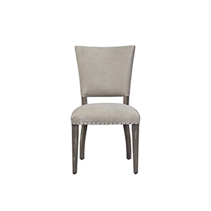Curated Greystone Wood and Fabric Pearson Chair- Set of Two