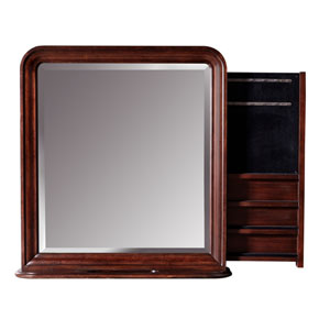 Classic Cherry Vertical Storage Mirror