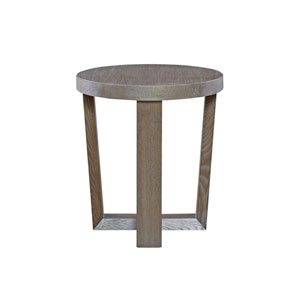 Modern Charcoal Round End Table