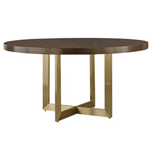 Modern Mahogany Round Dining Table
