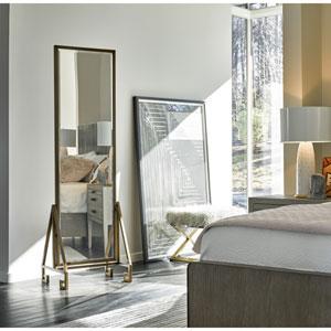 Modern Bronze Floor Mirror