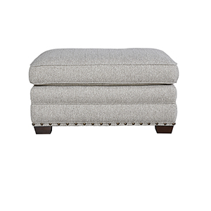 Curated Gray Riley Ottoman