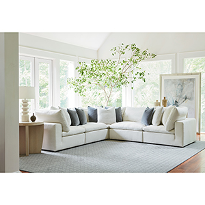Curated White Palmer 5 Piece Sectional