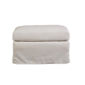 Curated White Sloane Ottoman