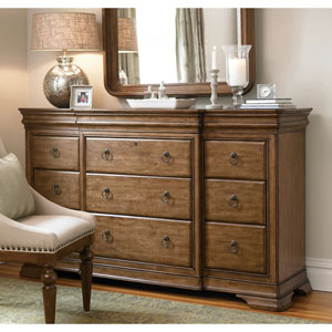 Cognac Drawer Dresser