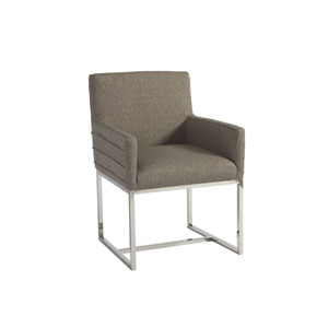 Zephyr Polished Stainless Cooper Arm Chair