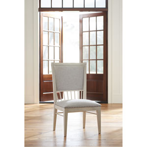 Cottage Upholstered Back Windsor Chair- Set of Two