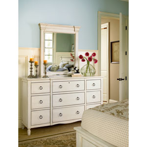 Summer Hill White Nine Drawer Dresser