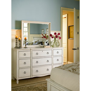 Summer Hill White Rectangle Mirror