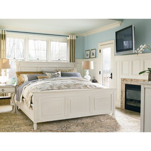 Summer Hill White Complete Queen Panel Bed