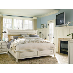 Summer Hill White Complete Queen Storage Bed