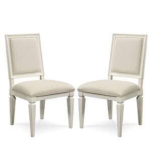 Summer Hill White Woven Accent Side Chair