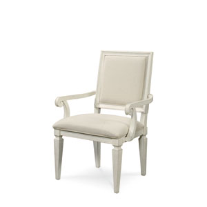 Summer Hill White Woven Accent Arm Chair