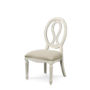 Summer Hill White Pierced Back Side Chair- Set of Two