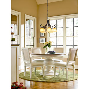 Summer Hill White Round Dining Table