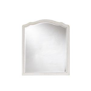 Amity White Wood Mirror