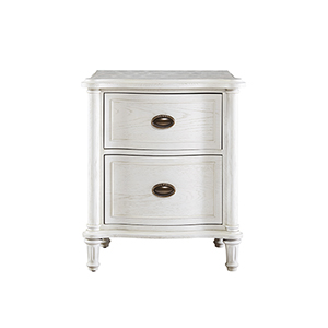 Amity White Wood Nightstand