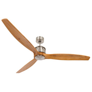 Lucci Air Airfusion Akmani Brushed Chrome 60-Inch DC Ceiling Fan