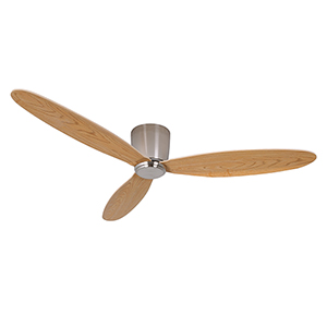 Lucci Air Brushed Chrome with Teak Blades Ceiling Fans