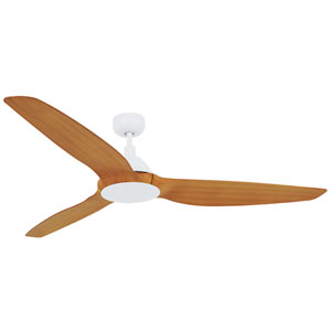 Lucci Air Airfusion Type A White 60-Inch DC Ceiling Fan
