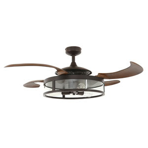 Fanaway Oil Rubbed Bronze and Dark Koa LED Three-Lights Ceiling Fans
