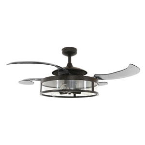 Fanaway Antique Black and Smoke LED Three-Lights Ceiling Fans