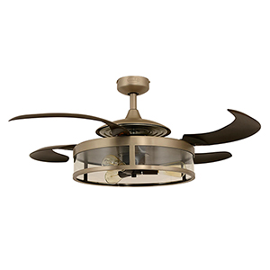 Matt Nickel and Espresso 48-Inch Three-Light Ceiling Fan