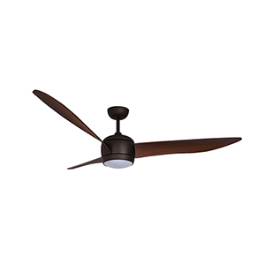 Lucci Air Oil Rubbed Bronze LED Ceiling Fan with Dark Koa Blades