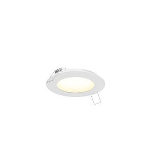 White Four-Inch Round LED Panel Light