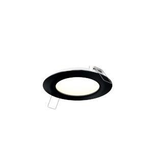 Black Five-Inch Round LED Panel Light