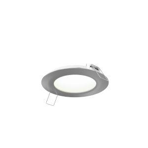 Satin Nickel Round LED Panel Light