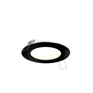 Black Seven-Inch Round LED Panel Light