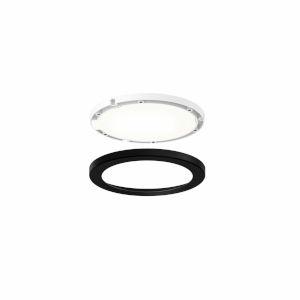 Black Ultra Slim Round Under Cabinet Puck Lights, Pack of 3