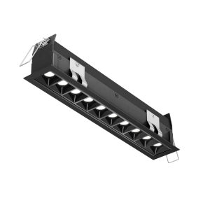 Black Mutli Spot 10-Light LED Recessed Downlight